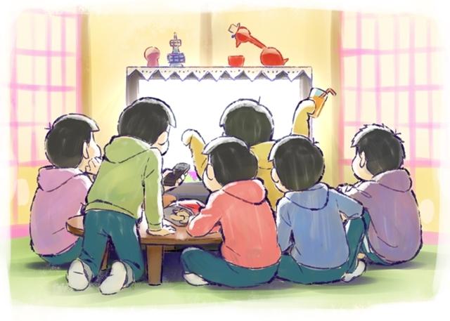 ▲6つ子もお家で待機中!? 描き下ろしイラストも到着!