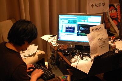 「小松菜屋」のゲーム即興制作風景