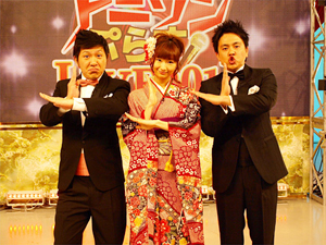 司会はアメリカザリガニと戸松遥さんの3人