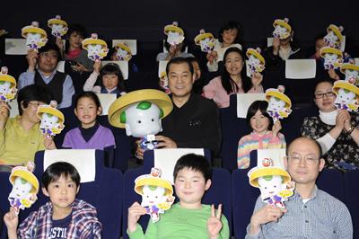3Dアニメ映画『豆富小僧』の試写会に松平健さん登場
