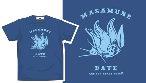 伊達政宗Tシャツ(ブルー)