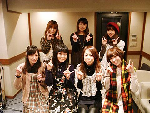 (後列左から)柚木涼香さん、生天目仁美さん、水橋かおりさん(前列左から)田口宏子さん、清水 愛さん、瑞沢 渓さん、中村繪里子さん