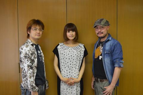 左から、シリーズ構成・上江洲 誠さん、「わたし」役・中原麻衣さん、岸 誠二監督。