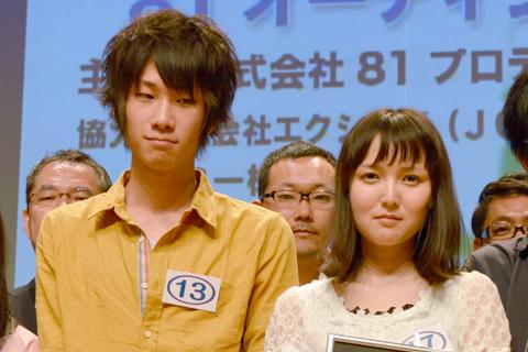 優秀賞を受賞した土田さんと三上さん ※「土」は、「土」の右下(2本の横棒の間)に点がつきます。