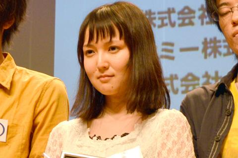 優秀賞を受賞した三上友里恵さん(エクシング賞、長崎音響監督賞を同時受賞)