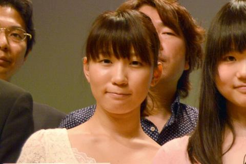 特別賞を受賞した渡辺保渚美さん(サミー賞、バンダイチャンネル賞を同時受賞)