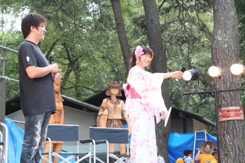 「こんにちは、風見みずほ役の井上喜久子17才ですっ!」「おいおい!」と、定番の挨拶でスタート。
