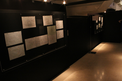 出口付近には、「MATERIAL~資料~」コーナーとして実際使われた絵コンテの展示も。