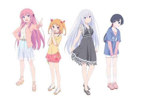ヒロイン4人が揃ったキービジュアル。左から冬海愛衣、春咲千和、夏川真涼、秋篠姫香