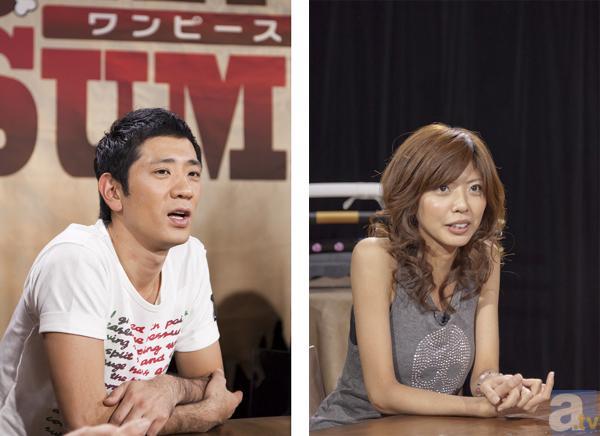柴田英嗣さん(左)、宮地真緒さん(右)