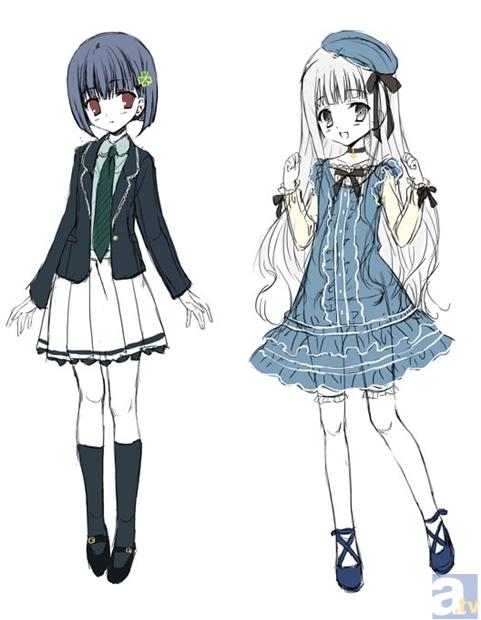 写真左のキャラクターがカズミ(CV:寺川愛美) 写真右のキャラクターがアリス(CV:???)
