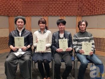 左から福山潤さん、早見沙織様さん、内山昂輝さん、篠原俊哉監督
