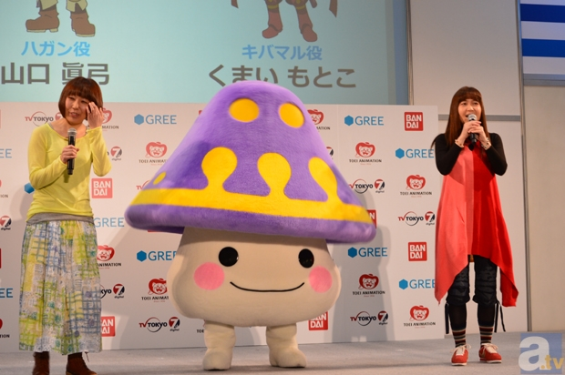 左より、山口眞弓さん(声優・ハガン)、くまいもとこさん(声優・激炎剣キバマル役)