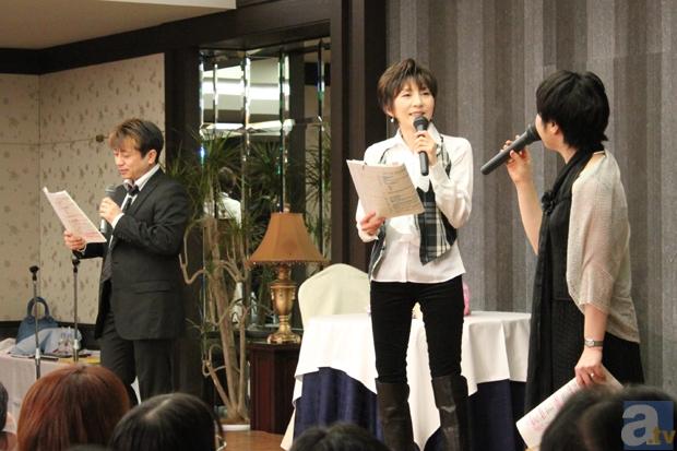 陶山さんが大神一郎プッシュのあらすじを読み上げ、島津さんと鷹森さんはニヤニヤ。