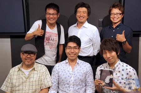 (後列左より)三宅健太さん・高瀬右光さん・興津和幸さん(前列左より)大川透さん・新垣樽助さん・羽多野渉さん