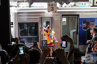 【マチ★アソビvol.12】徳井青空さんが徳島駅の1日駅長に就任