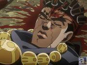 TVアニメ『ジョジョの奇妙な冒険 スターダストクルセイダース』第11話「皇帝(エンペラー)と吊られた男(ハングドマン) その2」より先行場面カットが到着