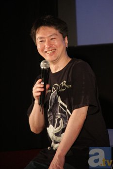 ▲Blu-ray BOX発売にあたって、<br>まだBlu-rayの機器を持っていないと明かし、<br>笑いを誘った合田浩章監督。