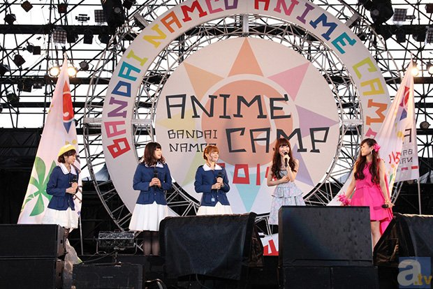 【BANDAI NAMCO ANIME CAMP 2014】大人気作品が夢の共演! トーク&ライブで盛り上がった「ガールズ&パンツァー、翠星のガルガンティア、バディ・コンプレックススペシャルステージ」をレポート-1