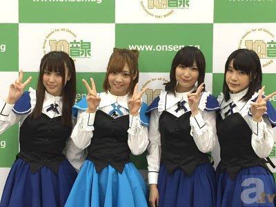 ▲左から山本希望さん、山崎はるかさん、<br />今村彩夏さん、諏訪彩花さん