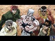 TVアニメ『ジョジョの奇妙な冒険 スターダストクルセイダース』第25話「「愚者」(ザ・フール)のイギーと「ゲブ神」のンドゥール その1」より先行場面カットが到着