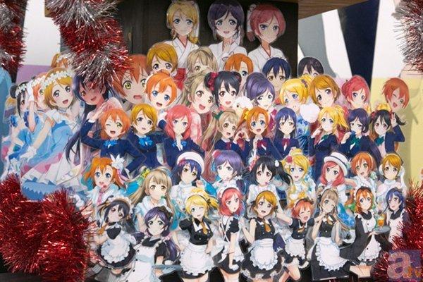 ▲アニメイト秋葉原の7Fではミュージアムを開催中。『スクフェス』のイラストを大量に使った特製の神輿は思わず写真を撮りたくなるハラショーな出来!