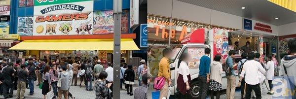 ▲AKIHABARAゲーマーズの店先では神田祭を記念して、ことりぬいぐるみが頂上に祀られた特製神輿が設置され、コスプレをした店員さんが限定の団扇も配布中。また、すぐ側の秋葉原ラジオ会館前では『神田明神×ラブライブ!』ゲーマーズキッチンカーも登場し、多くの人がコラボドリンクを楽しんでいました!