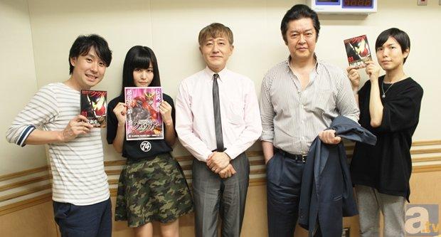 ▲2015年7月3日(金)の放送は、東映プロデューサーの白倉伸一郎さんと<br>脚本家の井上敏樹さんをゲストで登場。「仮面ライダークウガ」の話題に!