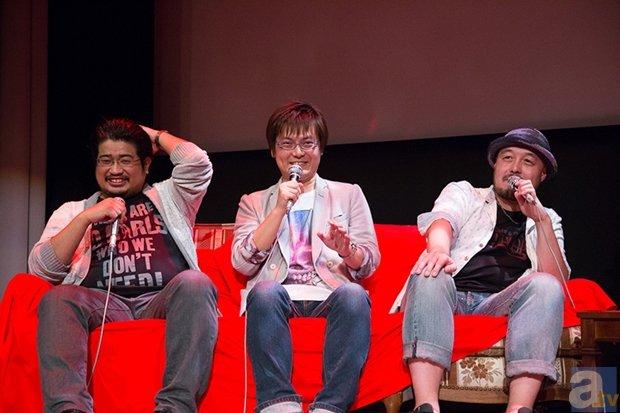 <b>左:比嘉勇二さん 中央:上江洲誠さん 右:岸誠二さん</b>