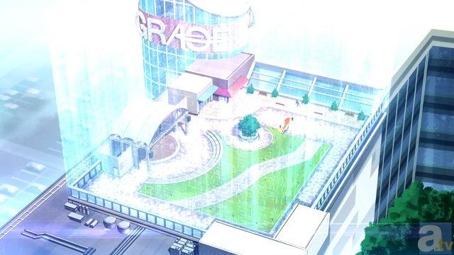 <b>▲そう、アニメでレン達がフェンリルXと戦った、ショッピングモールの屋上が再現されているんです!</b>