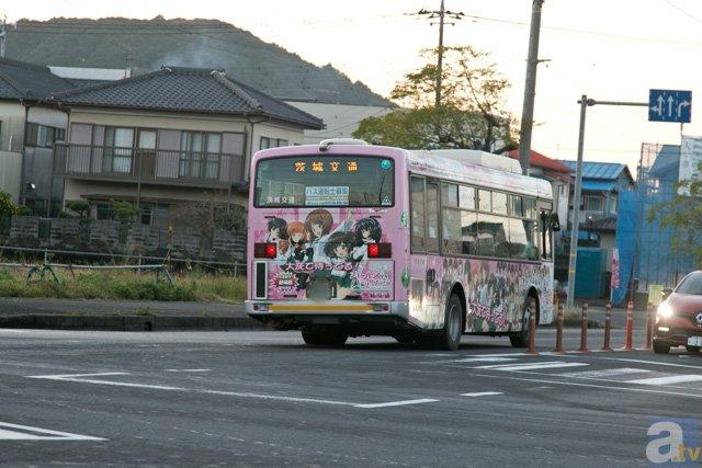 ▲大洗町を走る茨城交通バスも応援しています!