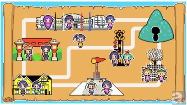 ▲キャラクターからクイズが出題されるマップ画面