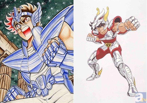 ▲原作(画像左)、アニメ(画像右)