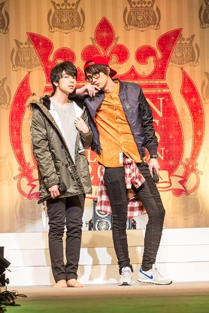 ▲コーナー中には江口さんと西山さんが自分のコーディネートした衣装を着て登場。コートで予算の半分以上使ってしまった西山さんは、まさかの裸足で「床が冷たい」「なんかここ、(お酒で)濡れてます……」と、安元さんも大爆笑でした。