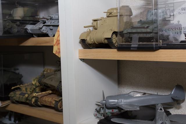 ▲ほかにも棚には戦車模型がギッシリ!