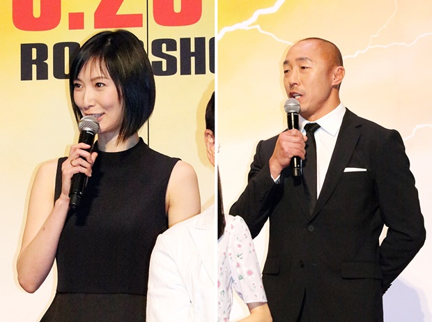 ▲イーグラ役 長澤奈央さん(写真左)、バッファル役 武田幸三さん(写真右)