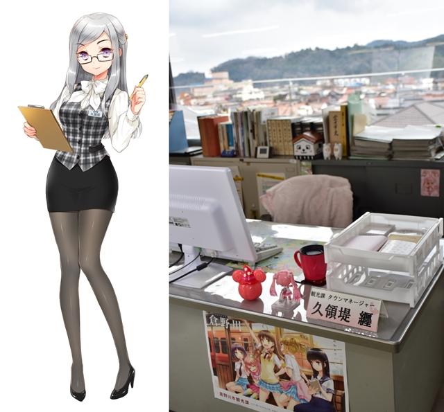 <b>▲姉妹都市提携に際し、既に倉吉市役所に久領堤纒のデスクが設置されています。</b>