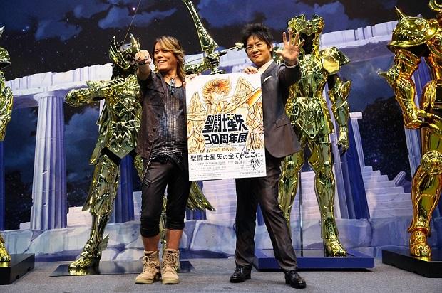 『聖闘士星矢』30周年展お披露目会見NoBさんと細川茂樹さん登壇