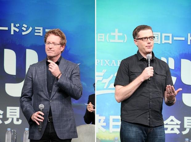 ▲アンドリュー・スタントン監督(写真左)、アンガス・マクレーン共同監督(写真右)