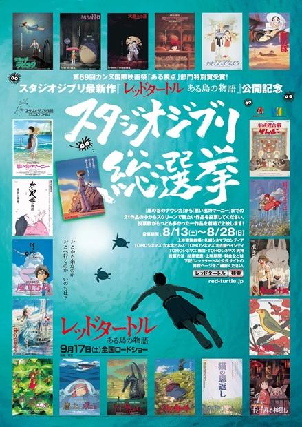 21作品を対象に「スタジオジブリ総選挙」が開催決定!?