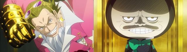 ▲左:黄金帝ギルド・テゾーロ(CV:山路和弘) 右:タナカさん(CV:濱田岳)