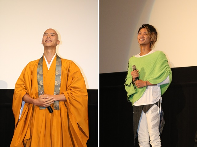 ▲左から、御成 役 柳喬之さん、仮面ライダーネクロム/アラン 役 磯村勇斗さん