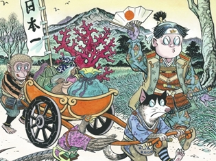 若本規夫さん・緑川光さん・小野大輔さん出演の「スーパー桃太郎」動画公開! こんなイケボな犬・猿・キジってあり!?