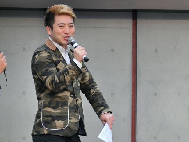 ▲総合プロデューサーの福原氏。「みなさんお米になってもらいます」
