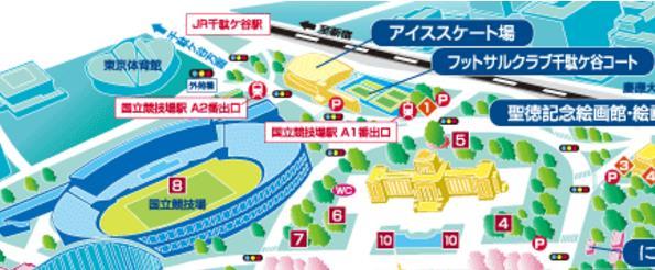 ▲東京会場地図