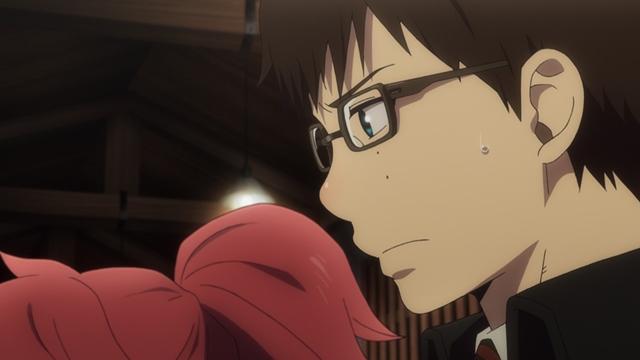 TVアニメ『青の祓魔師 京都不浄王篇』第7話より先行場面カット到着!達磨の願いを託された燐は降魔剣が抜けなくなり……