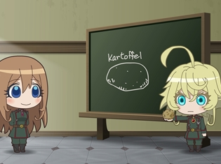 TVアニメ『幼女戦記』のミニアニメ「ようじょしぇんき」第9話が公開! 謎解きゲームが開催決定&コラボカフェのメニュー・ノベルティも明らかに