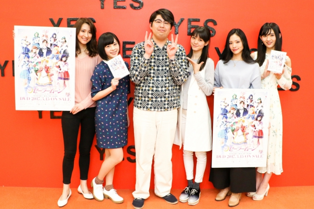 ▲左から、楓さん、竹内 夢さん、アニメイトタイムズ編集部員・I、野本ほたるさん、小林かれんさん、長谷川里桃さん