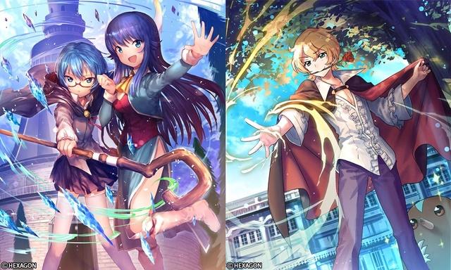 ▲左:タバサ(CV:いのくちゆかさん)、右:ギーシュ(CV:櫻井 孝宏さん)