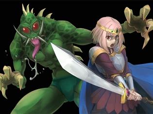 TVアニメ『サクラクエスト』エイプリルフール限定の描き下ろしビジュアルを公開! 主人公が聖剣で魔獣と戦う!